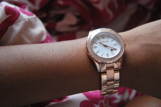 Finally mines! -Rose Gold Michael Kors Watch.