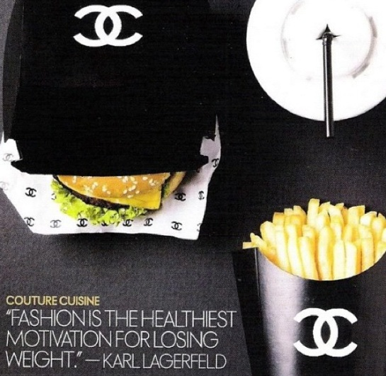 Chanel or a Big Mac? why not BOTH?