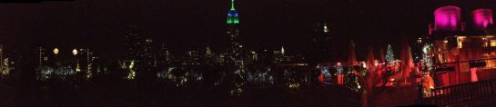 roof top view, NYC by night