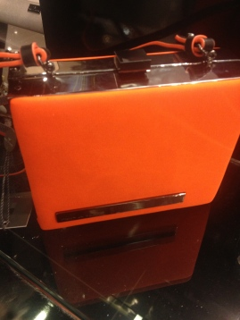 Beauts orange box clutch