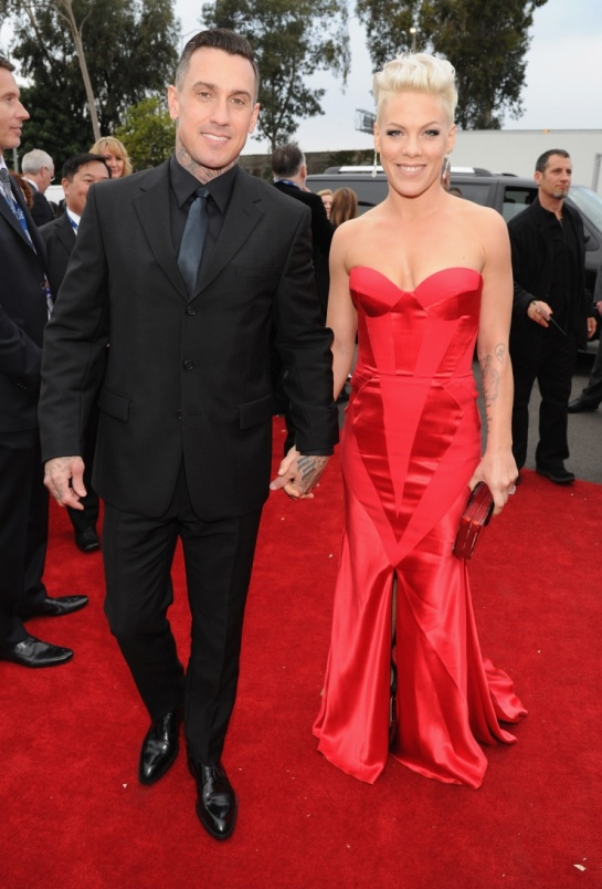 pretty in red: Pink and Carey Hart