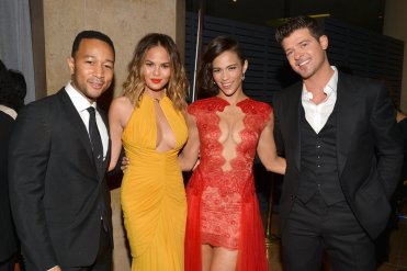 John Legend and Chrissy Teigen, Paula Patton and Robin Thicke