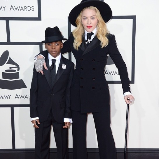 Mini me: Madonna and child (David) in Ralph Lauren