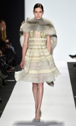Dennis Basso, gold detailing and fur combo